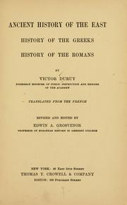 Cover of: Ancient history of the East by Duruy, Victor