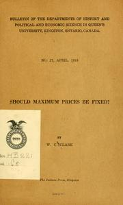Should maximum prices be fixed? PDF