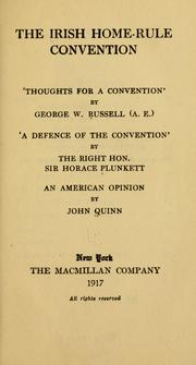 Cover of: The Irish home-rule convention by George William Russell
