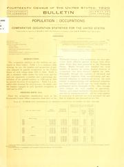 Fourteenth census of the United States: 1920 .. by United States. Bureau of the Census