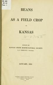 Beans as a field crop in Kansas PDF
