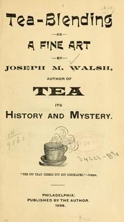 Tea-blending as a fine art PDF