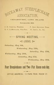 Spring meeting programme, 1886 PDF