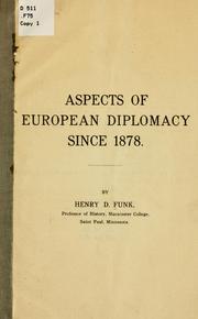 Aspects of European diplomacy since 1878 PDF