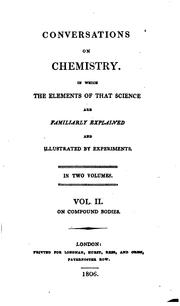 Conversations on Chemistry: In which the Elements of that Science are Familiarly Explained and .. by Marcet (Jane Haldimand)