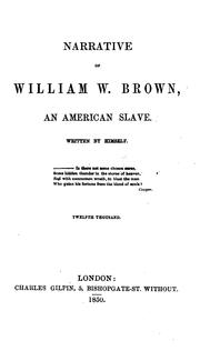 Narrative of William W. Brown, an American slave, written by himself PDF