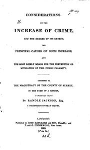 Considerations on the increase of crime ... and the most likely means for the prevention of this .. PDF