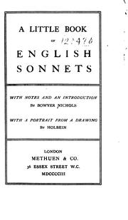 A Little Book of English Sonnets