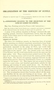 Organization of services of supply, American expeditionary forces.. PDF