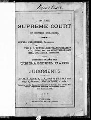 In the Supreme Court of British Columbia PDF