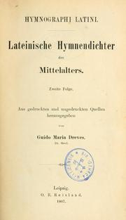 Cover of: Analecta hymnica medii aevi by hrsg. von Guido Dreves.