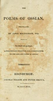 Cover of: The poems of Ossian by Macpherson, James