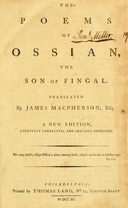 The poems of Ossian, the son of Fingal by Macpherson, James