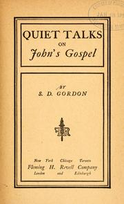Quiet Talks on John's Gospel PDF