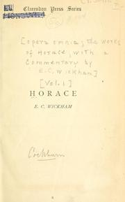 Cover of: Quinti Horatii Flacci opera omnia by Horace