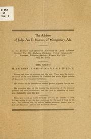 The address of Judge Asa E. Stratton .. PDF