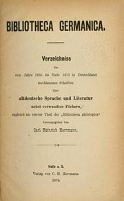 Bibliotheca germanica by Carl Heinrich Herrmann