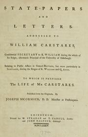 State-papers and letters addressed to William Carstares .. PDF