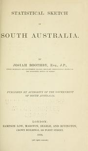Statistical sketch of South Australia by Josiah Boothby