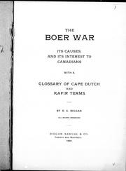 The Boer War by E. B. Biggar