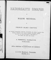 Hairbreadth escapes of Major Mendax PDF