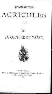 La culture du tabac PDF