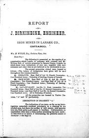 Report of certain iron ores in Lanark Co., Ont PDF