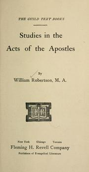 Studies in the Acts of the Apostles PDF