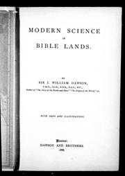 Modern science in Bible lands PDF