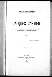 Jacques Cartier by Dionne, N.-E.