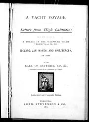 A yacht voyage by Dufferin and Ava, Frederick Temple Hamilton-Temple-Blackwood Marquess of
