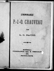 L' honorable P.-J.-O. Chauveau by L.-O David