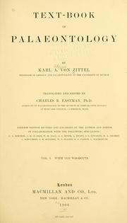 Text-book of palaeontology by Karl Alfred von Zittel
