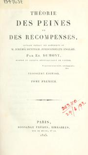 Thorie des peines et des rcompenses by Jeremy Bentham