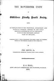 The Manchester Unity of Oddfellows Friendly Benefit Society PDF
