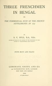 Three Frenchmen in Bengal PDF