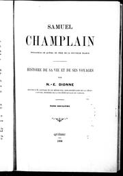 Samuel Champlain by Dionne, N.-E.