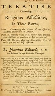 Treatise concerning the religious affections by Edwards, Jonathan