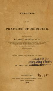 A treatise on the practice of medicine by John Eberle