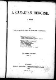 A Canadian heroine, a novel PDF