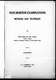 Post-mortem examinations by John Caven