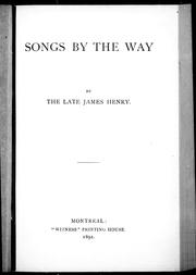 Songs by the way by James Henry