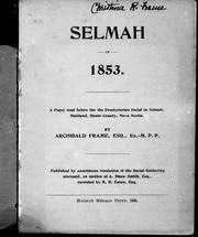 Selmah in 1853 by Archibald Frame