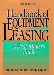 Handbook of equipment leasing PDF