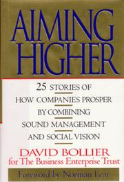 Cover of: Aiming higher by David Bollier
