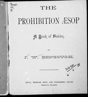 The prohibition Aesop by J. W. Bengough