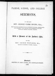 Parish, school, and college sermons by George Clerk Irving