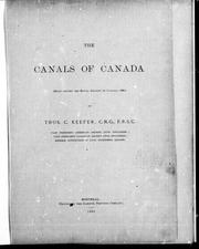 The canals of Canada by Keefer, Thomas C.