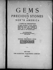 Gems and precious stones of North America by George F. Kunz, George Frederick Kunz