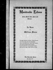 Manitoulin echoes from bluff, dale, lake and stream PDF